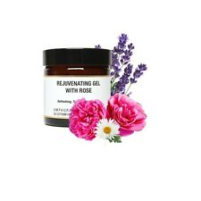 Rejuvenating Gel with Rose 60ml. Hydrating, made with  herbal extracts and oils