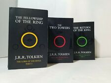 Lord Of The Rings Trilogy Paperback Books Set Of 3 Tolkien