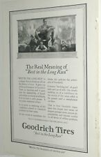 1920 Goodrich Tire advertisement, B. F. Goodrich, Best in Long Run