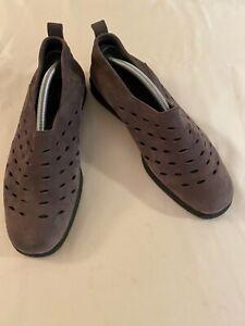 Arche France Nubuck Purple Slip-On Comfort Wedge Shoes Size 41