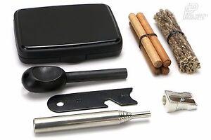 SPITFIRE Pocket Fire Lighting Kit Steel Bellows Survival Hiking BBQ Tool UK-Made
