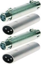 2 Sets 3-pol XLR Adapter männlich auf männlich + weiblich auf weiblich Verbinder