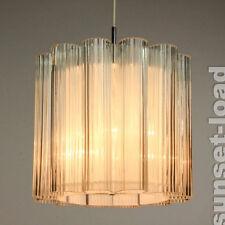 alter Doria Glas Lüster Leuchter Neuw OVP 60er 70er Pendel Lampe alt vintage
