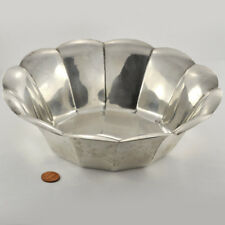 Deco Period 1930s Tiffany & Co. Sterling Fruit Bowl 12- Sided