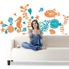 00558 Wall stickers sticker Adesivi murali muro Acquario tropicale 120x53