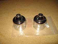 """New Pair of Chrome Dashpot Covers for 1 1/2"""" SU HS4 MGA MGB 1955-1971"""