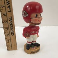 1960'S AFL NFL KANSAS CITY CHIEFS BOBBLEHEAD, NODDER, BOBBLE HEAD - VINTAGE