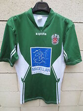 Maillot rugby porté n°16 LOSQUIDIC LOQUIDY vert moulant match worn shirt 4 L