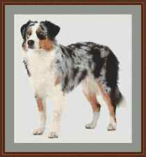 Australian Shepherd Dog Cross Stitch Kit