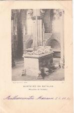 Carte postale ancienne PORTUGAL MOSTEIRO DA BATALHA mausoleu do fun timbrée 1902