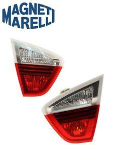 For BMW E90 325i 328i 330i Set Of 2 Tail Light Lens Inner OEM Magneti Marelli