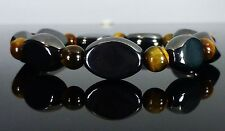 MAGNETIC HEMATITE TIGERS EYE HEALING BRACELET ARTHRITIS PAIN RELIEF THERAPY
