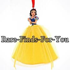 Disney Parks Princess Snow White Glitter Dress Resin Christmas Ornament (NEW)