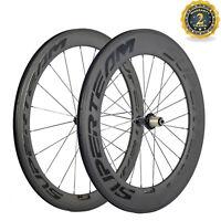 60/88 Superteam Carbon Wheelset Front 60 Rear 88mm Road Bike Carbon Wheels R36