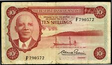 MALAWI 10 SHILLINGS 1964 P-2 F (B-008)
