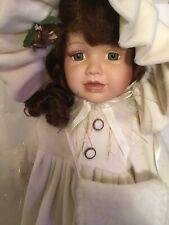 """Rare Vintage Brinn's 1998 Collectible Large 22"""" Porcelain Doll Dressed Unique"""