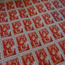FEUILLE SHEET TIMBRE SÉRIE DES MÉTIERS MÉTALLURGISTE N°826 x50 NEUF ** LUXE MNH