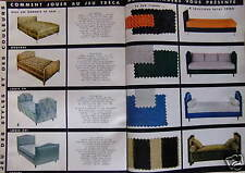 PUBLICITÉ 1959 TRECA SUR 8 PAGES JEU ENSEMBLES TRECA - ADVERTISING