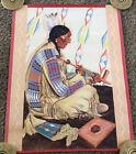 Original 1941 SUNDANCE Blackfoot Indian Poster, Great Northern Railway, Reiss