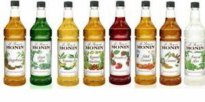 Monin 1 Liter, 33.8 oz Premium Flavoring Syrup (select flavor below)