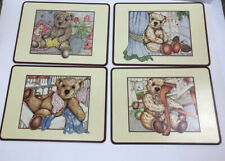 Pimpernel Placemats Teddy Bear Retro 16 x 12 Cork Backed DeLuxe Finish