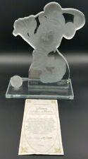Vintage Disney Golfer Minnie Mouse Crystal Sculpture Limited 14/1000 Izaz Studio