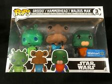 Greedo Hammerhead Walrus Man Star Wars 3 Pack Exclusive Funko Pop Vinyl Figure