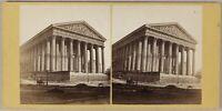 Parigi L'Église Da La Madeleine Foto Stereo PL55L1n Vintage Albumina c1862