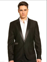 New with Tags Guess Men's Shiny Lapel Blazer Formalwear Jacket Tux Blazer Medium