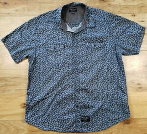 Marc Ecko Cut and Sew Short Sleeve Button Down Shirt Size XL