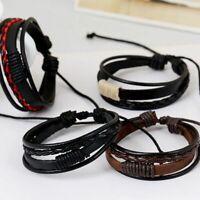 les hommes multicouches les femmes bracelet le cuir menotte bangle bracelet