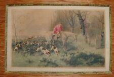 Rare Arthur Batt 1846-1911 Watercolour Painting English Hunting Scene #3 - NR