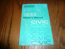 1985 Honda Civic Owner's Manual - Glove Box