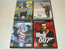 Lot of 4 Playstation 2 PS2 Games 007 lot: Russia with love,Quantum,Agent Under