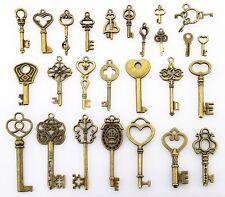 52Pcs retro different styles Small hair dryer alloy charm pendants DIY key Decor