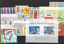 EAST GERMANY DDR 1963 COMPLETE YEAR STAMP COLLECTION Mint Never Hinged