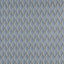 C557 Blue and Gold Wavy Striped Durable Upholstery Fabric By The Yard