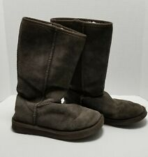 UKALA Womens Size 6 Brown Suede Boots 100% MERINO WOOL LINED