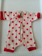 "Vintage 1950's Doll's Flannel Pajamas fits 12"" doll"