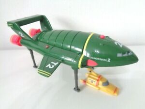 Thunderbird 2 with Thunderbird 4 Toy Model with Sounds - Carlton 2000 - 7 inch