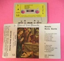MC CORO DI VOCI BIANCHE Notte santa canti tradizionali natalizi no cd lp dvd