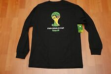 FIFA WORLD CUP BRASIL LONG SLEEVE SHIRT 2014 SOCCER NEW NWT BRAZIL SMALL S