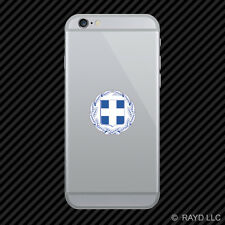Greek Coat of Arms Cell Phone Sticker Mobile Greece flag GRC GR