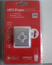 Difrnce MP755 Reproductor MP3 de 2GB con clip para el cinturón