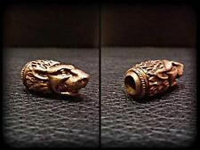 Scythian Leo Knife Paracord Bracelet Bead Solid Bronze Handmade Lanyard Beads