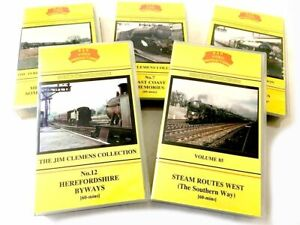 VHS B&R Railway Videos Jim Clements - Please Select From Listing