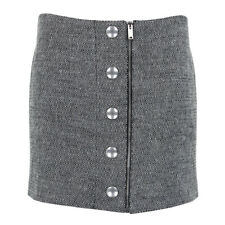 Stella McCartney Grey Tweed Mini Skirt IT42 UK10