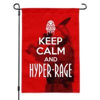 Farscape Keep Calm And Hyper-Rage Ka D'Argo Luxan Garden Yard Flag