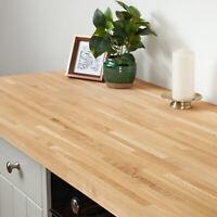 Solid Oak Kitchen Wood Worktops 2M 3M 4M & Breakfast Bars, Solid Wooden Worktop