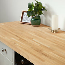 Solid Oak Kitchen Wood Worktops 2M 3M 4M & Breakfast Bars, Solid Wooden Worktop